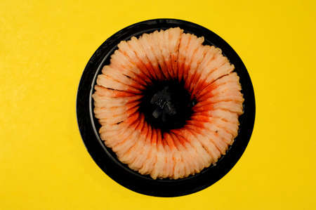 Shrimp circle Stock Photo