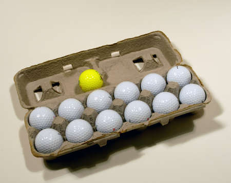 Image result for egg carton of golf balls