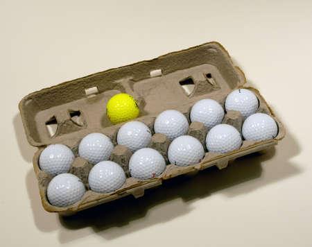 Image result for egg carton of golf balls