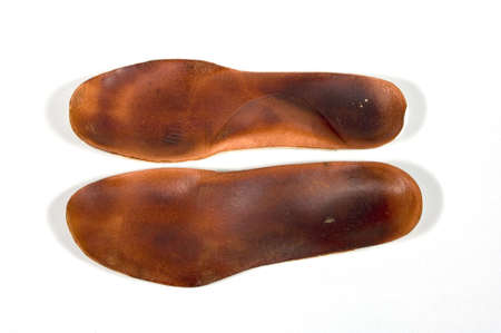 Leather orthotics for insoles in shoes or sneakers Reklamní fotografie