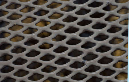 metal grate: Pattern metal grate that can be used as background Stock Photo