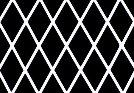 diamond shaped: White diamond shaped grate or fence good for background Stock Photo