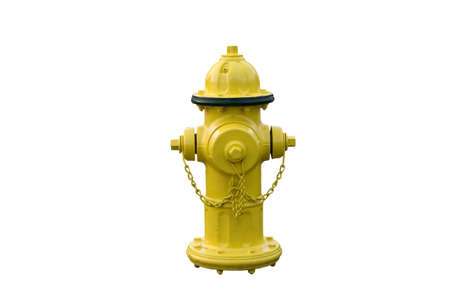 fire hydrant: Yellow fire hydrant isolated against white background Stock Photo