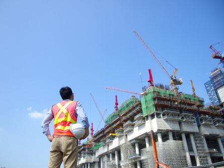pan asian: Construction worker Stock Photo
