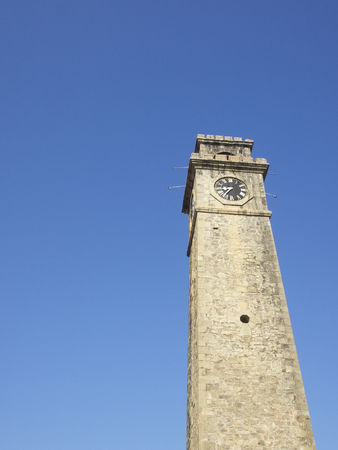 galle: Old Clock Tower At Galle Dutch Fort In Sri Lanka