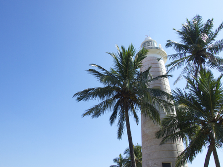galle: Galle fort in Sri Lanka with blue sky