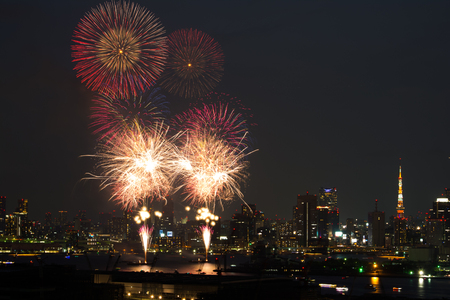 hanabi: Fireworks in Japan with Tokyo tower