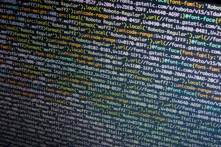 Programmeren code op het computerscherm