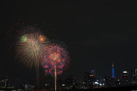 hanabi: Fireworks in Japan with Tokyo tower