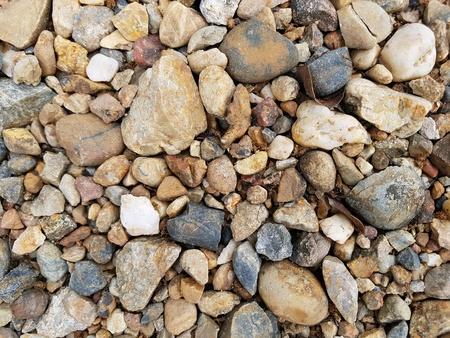 detail: Background of gravels & stones, stones texture Stock Photo