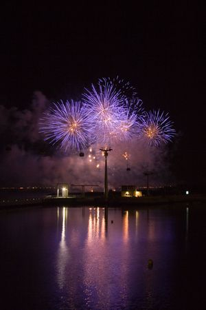 a festival of firework in lisbon/portugal beautifull colors and lines Stock Photo - 775745