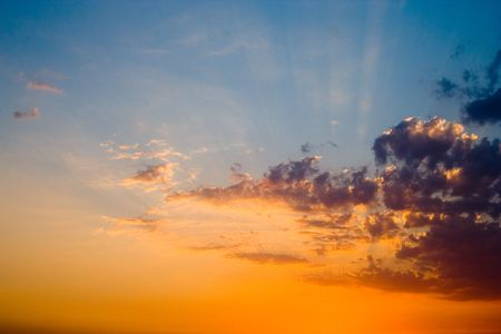 beautiful sunset over the ocean Stock Photo - 776436