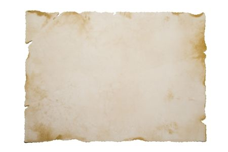 Old Paper isolated on white                                                 Old Paper isolated on white Stock Photo - 796725