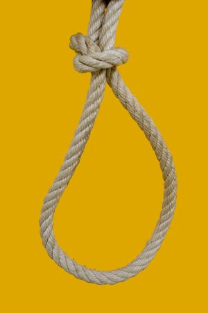 a rope for hanging a bad man photo