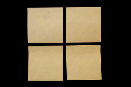 todo: four post-it in over a black board