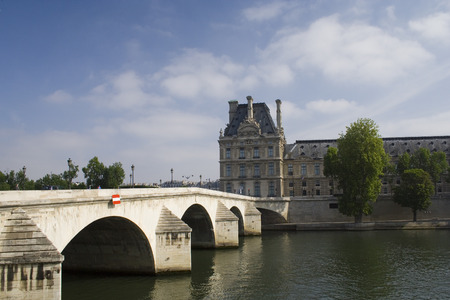a bridge and a palace in Paris Stock Photo - 1577085