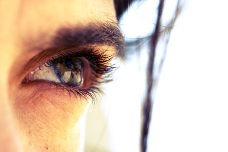 a closeup of a beautiful eye photo
