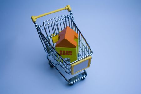 go to the market to buy houses Stock Photo - 1744471