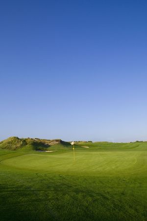 a beautiful green in a golf course Stock Photo - 1769971