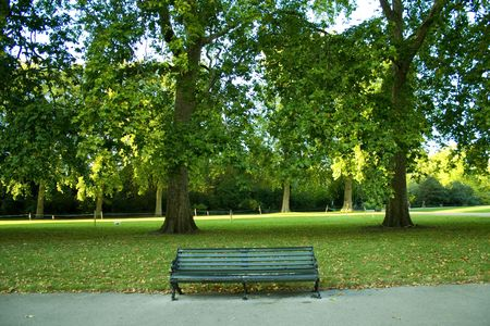 a beautiful park in London photo
