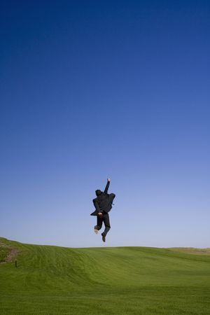 Enjoying the business sucess on a golf course Stock Photo - 2014424