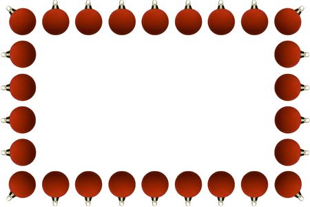 a Frame of red Christmas Balls photo