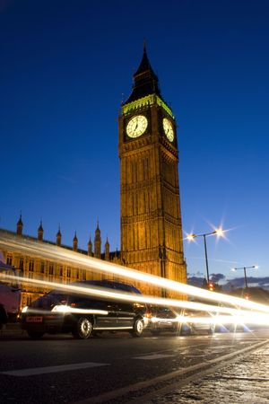 the Big Ben at nigth with long exposure photo