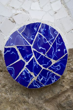 guell: some detail of park Guell design architecture Stock Photo