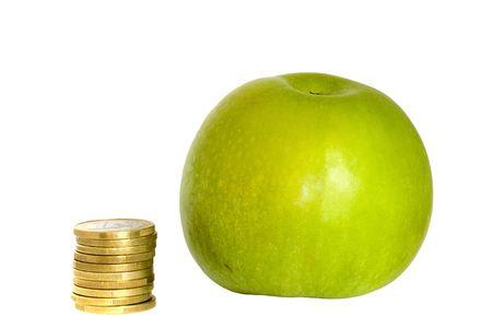 basic food: how to save to buy basic food, like fruit Stock Photo
