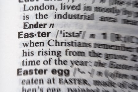 easter word in the dictionary photo