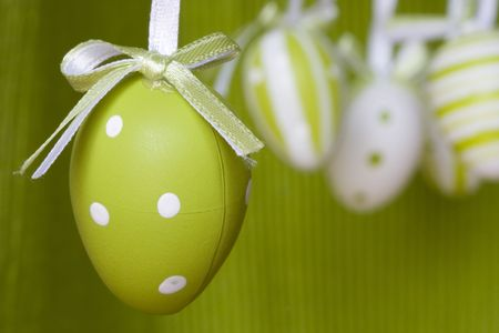 eastertime: Colorful easter eggs for backgrounds (selective and soft focus)