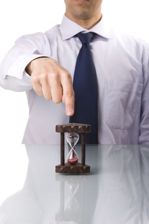 your boss demands punctuality (selective and soft focus) photo