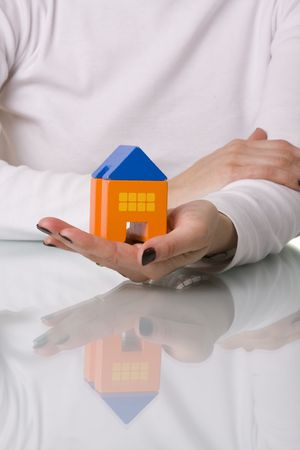 businesswoman selling a house (selective and soft focus) Stock Photo - 3092106