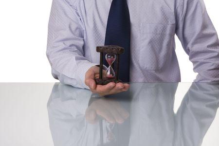 Businessman saving his precious time (selective and soft focus) photo