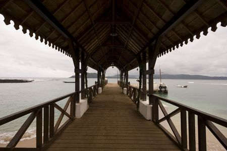 """principe: El camino al recurrir a  """"Santo Tomé y Príncipe """"  Foto de archivo"""
