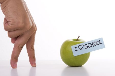 hand with walking fingers going to school (concept) Stock Photo - 3515061