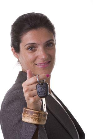 you win a car, take the keys (selective focus) photo
