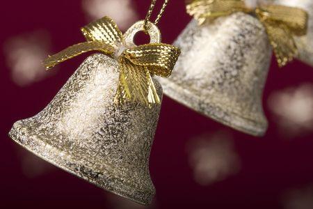 jingle: some christmas bells background (selective focus) Stock Photo
