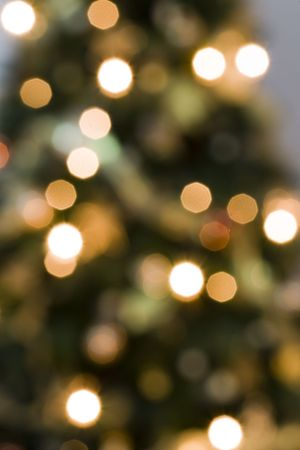 intentional: christmas lights background (intentional blur effect) Stock Photo