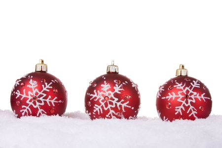 red and white christmas ornament background selective focus stock photo 4005030