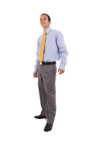 standing full body businessman (isolated on white) Stock Photo - 4159861