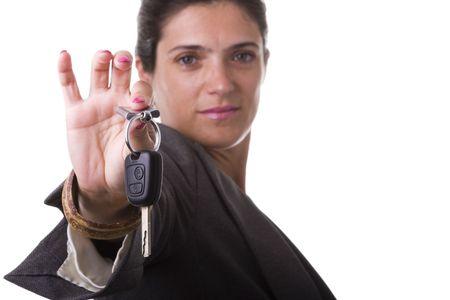 you win a car, take the keys (selective focus) Stock Photo - 4201166
