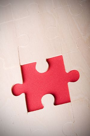 the detail of a missing piece in a puzzle photo