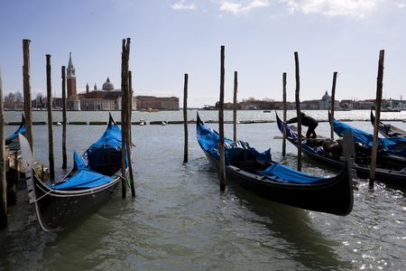 Beautiful view of venice traditional boats Stock Photo - 4628539