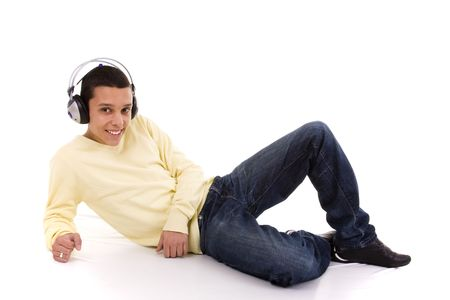 young man relaxing at the sound of good music Stock Photo - 4628504