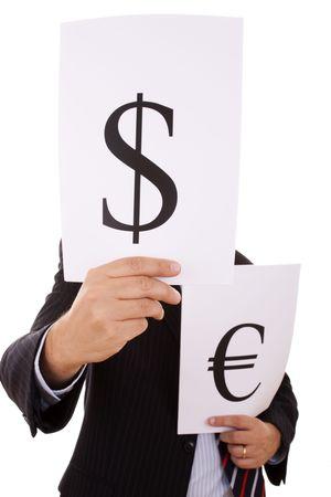 swindle: the money expert businessman (selective focus)