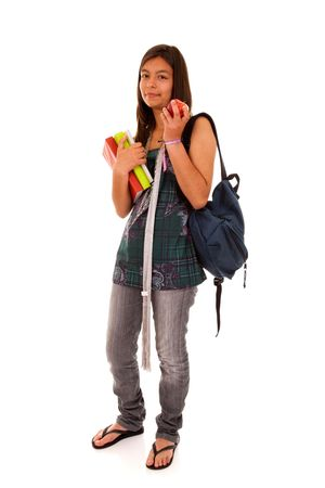 Teenager ready to go back to school (selective focus) Stock Photo - 5212241