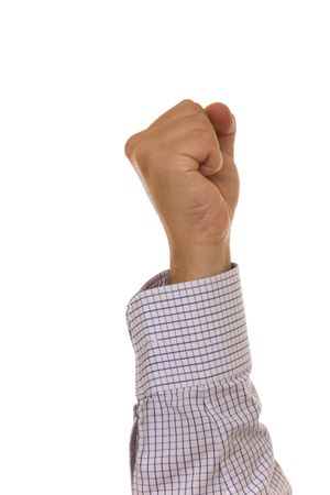 businessman fist, hand closed (isolated on white) Stock Photo - 5585205