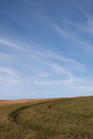 path in  an empty rural field landscape Stock Photo - 5827048