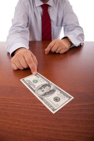 businessman at the office giving money Stock Photo - 5873697